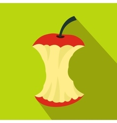 Apple core icon flat style vector image vector image