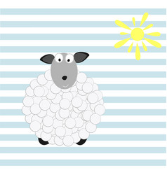 Baby wallpaper with sheep vector