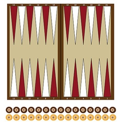 Backgammon game vector image