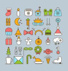 Big set of christmas icons vector
