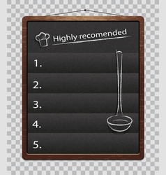 black menu boards isolated chalkboard for menu vector image
