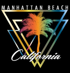 california miami summer t shirt graphic design vector image
