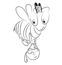 cartoon image of unhappy bee vector image vector image