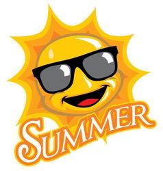 cartoon of sunny character vector image vector image