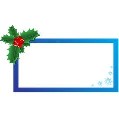 Christmas holly banner vector