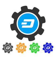 Dash settings gear icon vector
