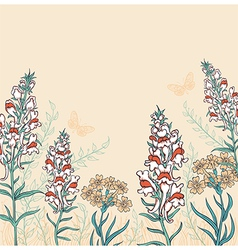 Decorative background with wildflowers vector image vector image