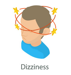 Dizziness icon isometric style vector