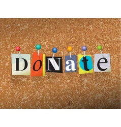 Donate Concept vector image vector image