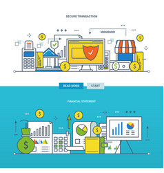 financial management reporting security vector image vector image