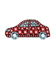 Gem car vector