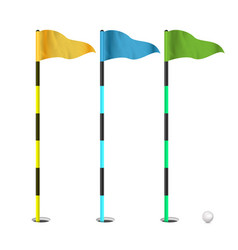 Golf flags realistic flags of the golf vector