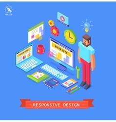 isometric flat design vector image