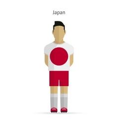 Japan football player soccer uniform vector