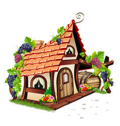 little fairy house vector image vector image