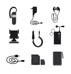 mobile accessories devices vector image vector image