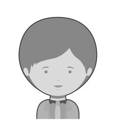Monochrome half body man dressed formal style vector