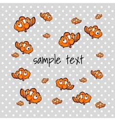 Orange small fish with space for text vector image vector image