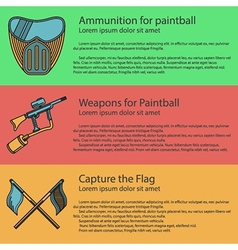 Paintball colored vector