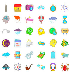 screen icons set cartoon style vector image