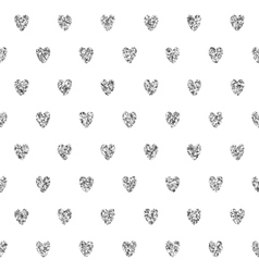 Seamless background with silver hearts vector