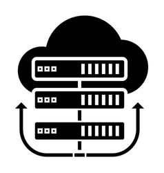 servers network - cloud icon vector image