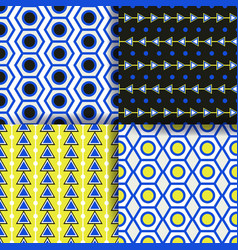 set of 4 seamless pattern simple geometric vector image