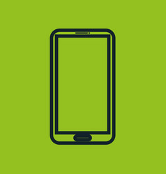 Smartphone icon green neon social network vector