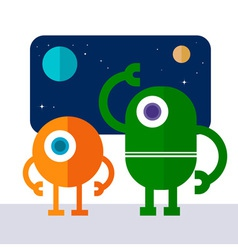 Space Robot vector image
