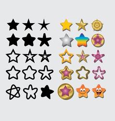 Star symbols vector