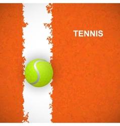 Tennis ball on court vector