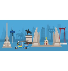 Thailand monuments and statue vector