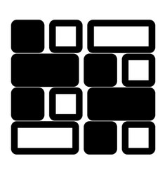 tile the black color icon vector image