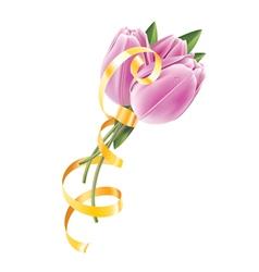 tulip gold vector image
