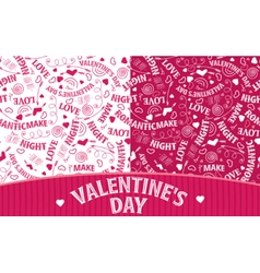 Two Valentines Day patterns vector image vector image