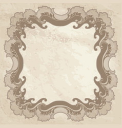 Vintage frame ornamental floral background vector