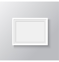 white frame for paintings or photographs on the vector image vector image
