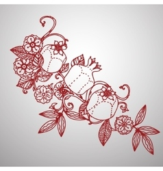Filigree leaves for paper cutting vector