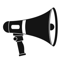 Megaphone icon simple style vector