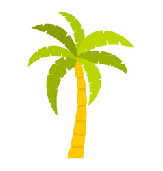 Green palm tree icon isolated vector