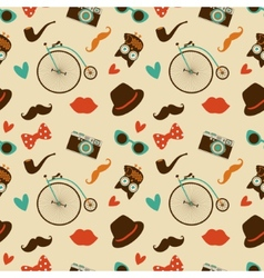 Hipster colorful seamless pattern vector