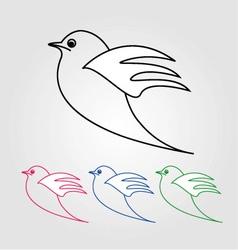 Dove- the symbol of peace vector image