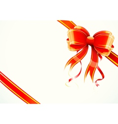 Gift bow and ribbon vector
