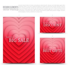 Happy valentines day design elements vector