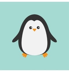 Cute penguin cartoon character arctic animal vector