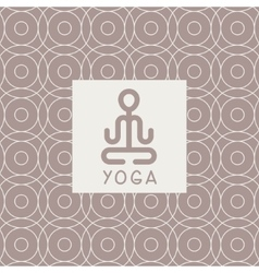 Abstract lotus pose yoga studio design card vector