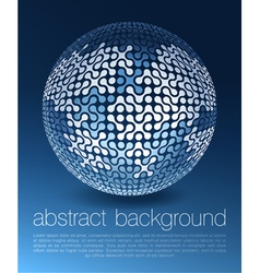 abstract globe network concept vector image