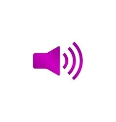Speaker icon flat design style vector