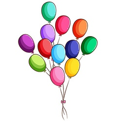A simple drawing of a group of balloons vector image vector image