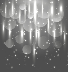 Abstract black and white light glowing background vector image